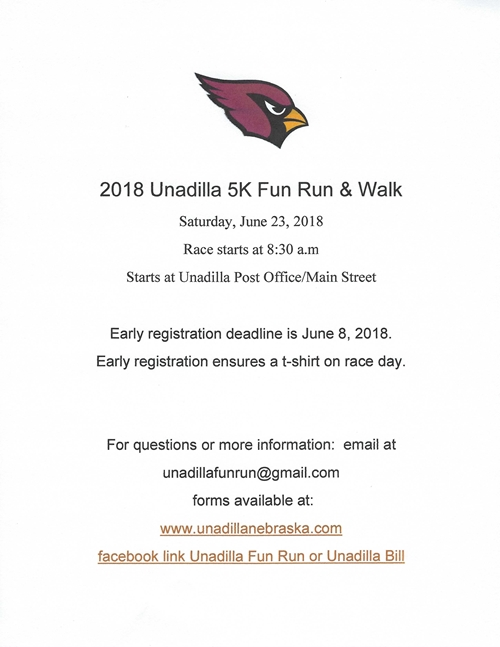2018 Unadilla_Fun_Run_Poster_500