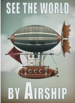 see the world by airship steampunk travel poster r92bebe62f38849c0a1aea4672b8b5737 vevj5 8byvr 512 250