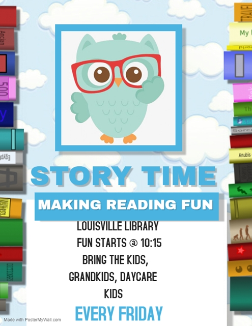 Copy of Story Time Reading Classes Flyer Template Made with PosterMyWall 495