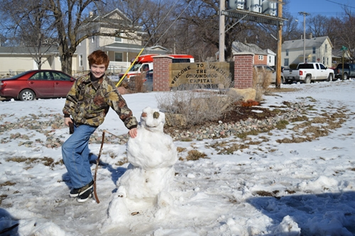 Boy and_snowman