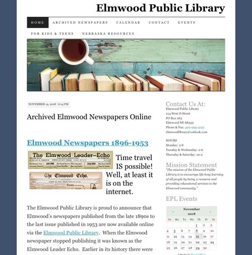 Elmwood Library_Newspaper_Archive_500