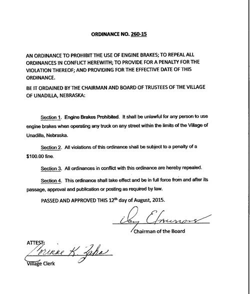 Ordinance 260-15_500
